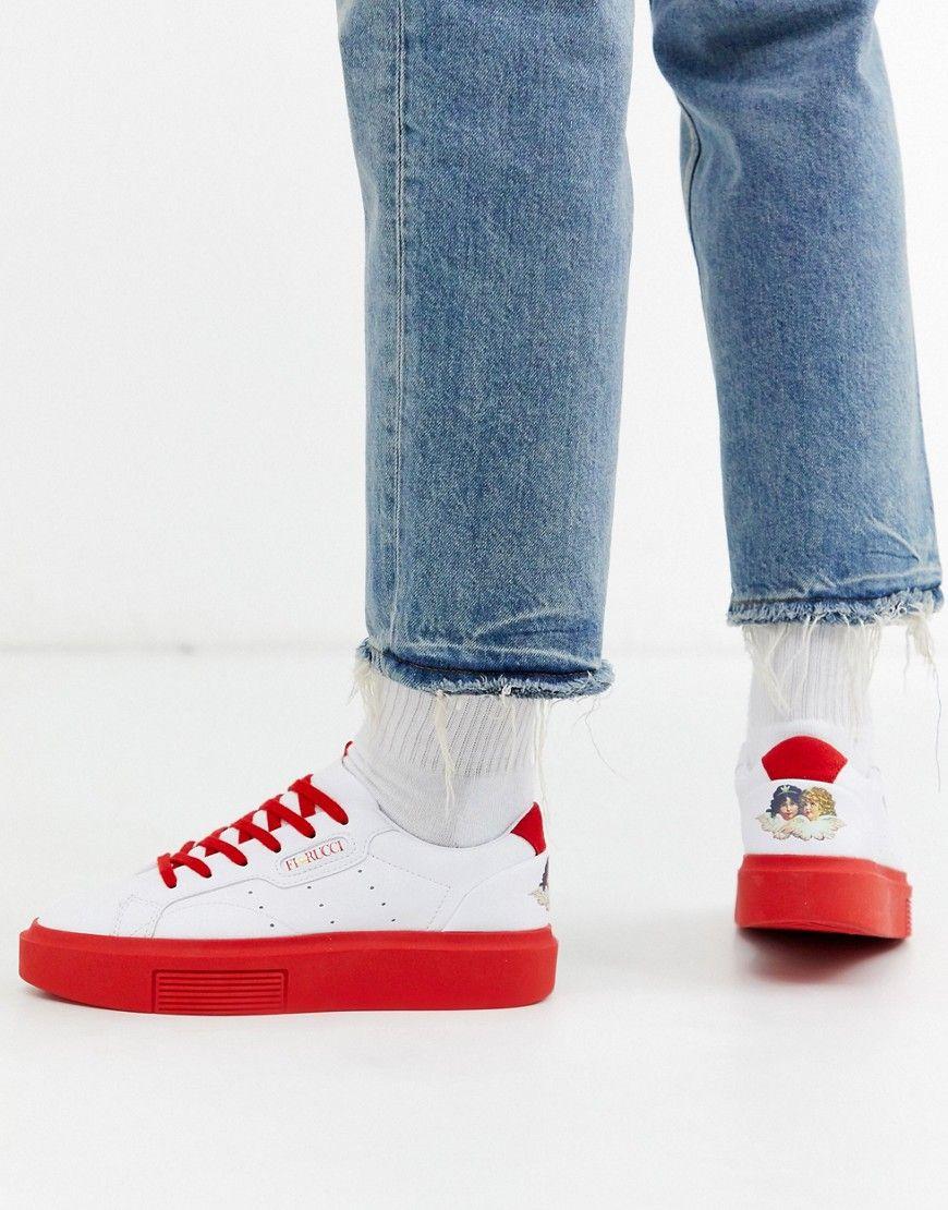 Sneaker adidas In Zusammenarbeit Fiorucci Schnürung
