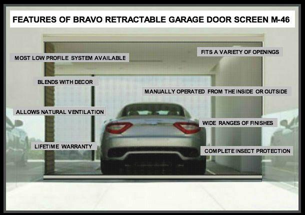 Screen Doors Motorized Garage Door Screens Retractable Screen By