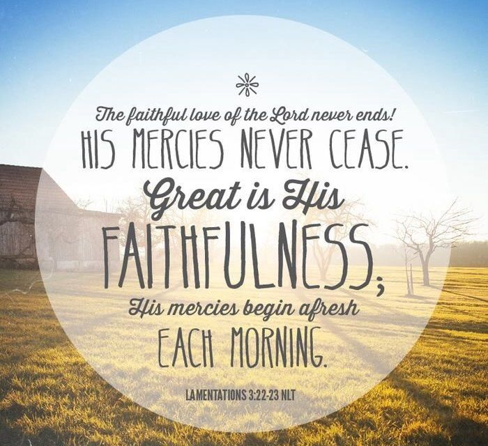 faithful-in-christ | Lamentations, Inspirational scripture, New every  morning