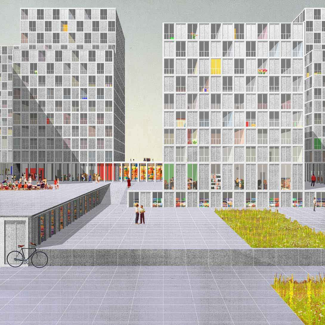 Serlio. Proposal for 1500 residential units at Vernets, Geneve, by Dogma: Pier Vittorio Aureli and Martino Tattara