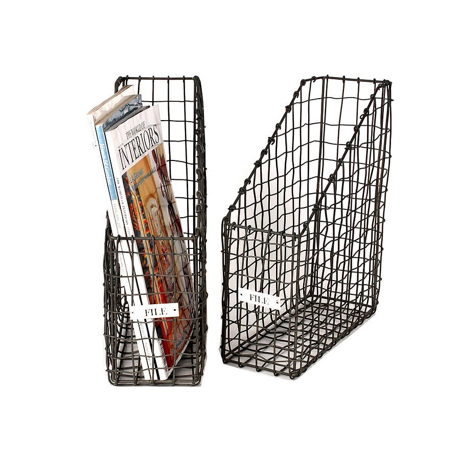 zinc file basket by the orchard | notonthehighstreet.com