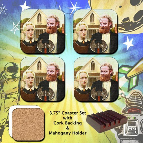 Game Of Thrones / Tormund And Brienne Gothic / Coaster Set