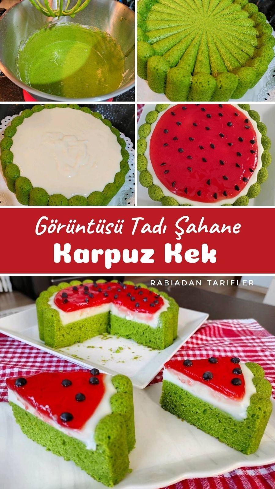 Photo of Görüntüsü Tadı Şahane Karpuz Kek – Nefis Yemek Tarifleri