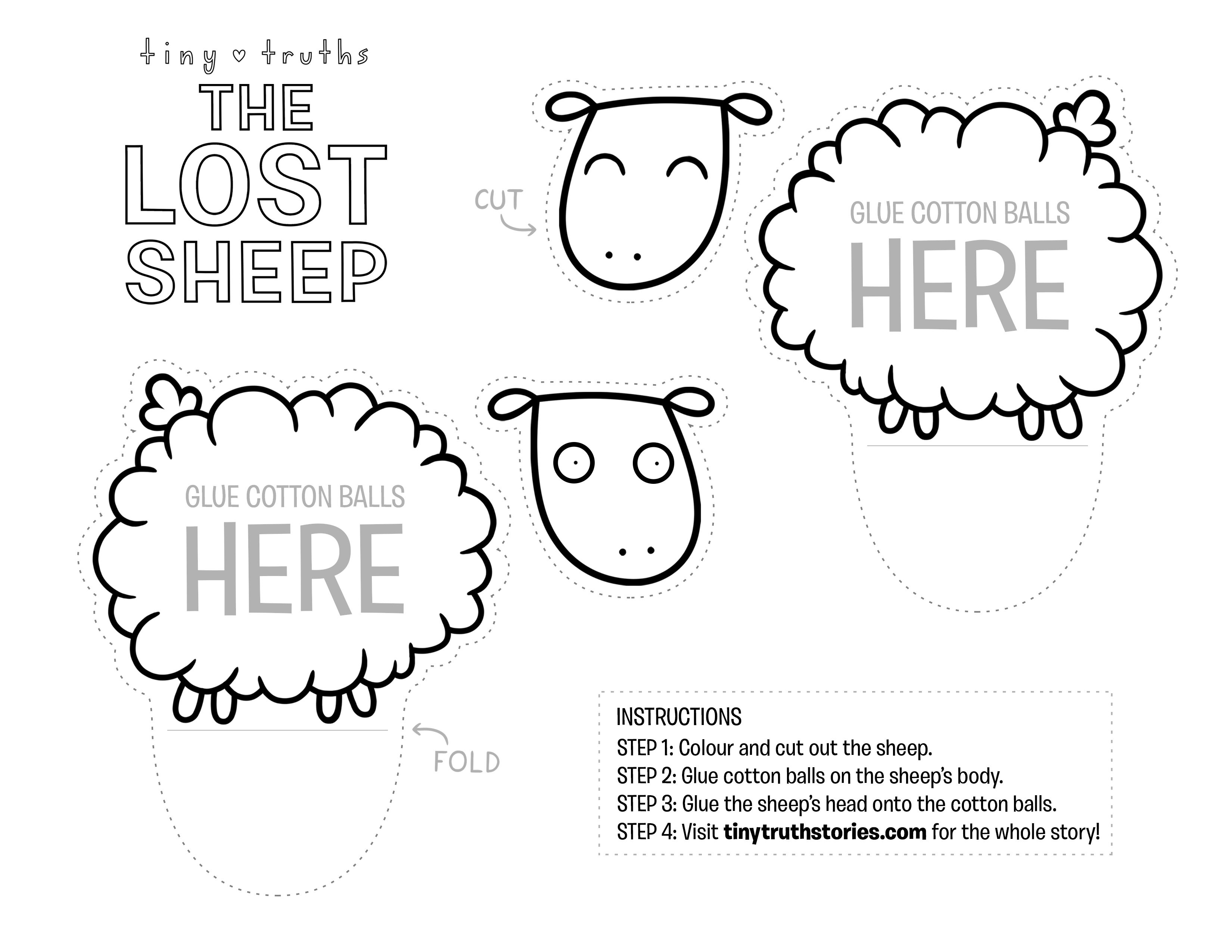 Super fun craft for the story of the Lost Sheep! #