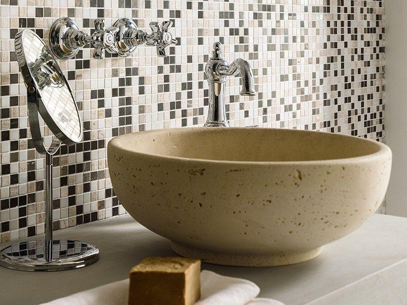 lavabo d'arredo aurea travertino - iperceramica | lavabi bagno ... - Arredo Bagno Iperceramica