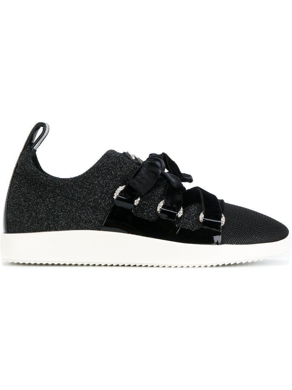 Giuseppe Zanotti Design Maggie velvet lace sneakers online sale sale 100% authentic cheap wholesale price latest collections online t9bAd6M5JW