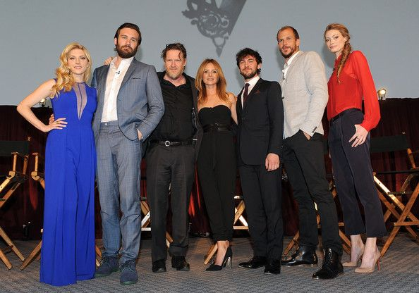 Jessalyn Gilsig Photos Photos - (L-R) Actress Katheryn Winnick, actor Clive Standen actor Donal Logue,  actress Jessalyn Gilsig, actor George Bladen, actor Gustaf Skarsgard and actress Alyssa Sutherland attend History's 'Vikings' ATAS panel at Leonard Goldenson Theatre on May 13, 2014 in Hollywood, California. - 'Vikings' ATAS Panel in Hollywood