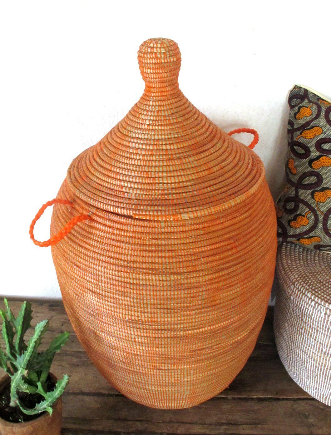Handmade Laundry Basket Xl In Plain Orange Laundry Hamper Laundry Hamper Laundry Basket Wooden Basket
