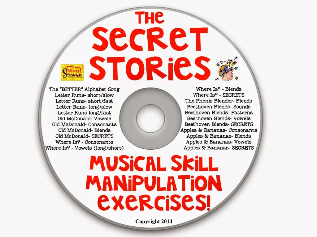 """Secret Stories"" rapid musical skill manipulations to mimic decoding and encoding processes.... Watch vid clips and use w/ your class TOMORROW :). (www.TheSecretStories.com)"