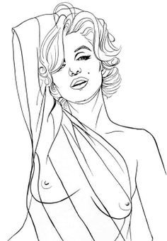 printable marilyn monroe coloring pages google search - Nude Coloring Book