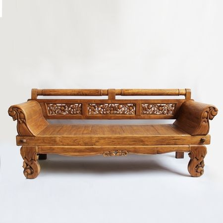 Carved Balinese Daybed Bench Mix Furniture Wooden Sofa Designs Wooden Sofa Wooden Sofa Set Designs
