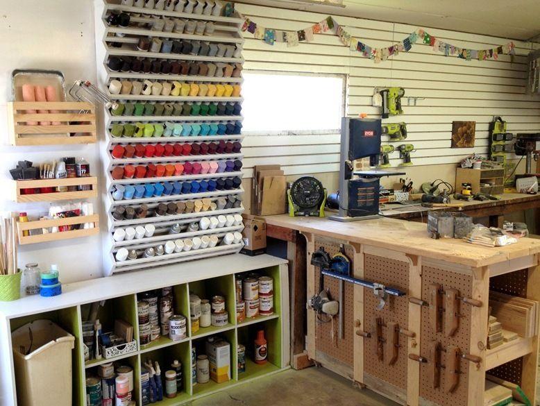 Do It Yourself Spray Paint Rack Garage Organization Diy Garage