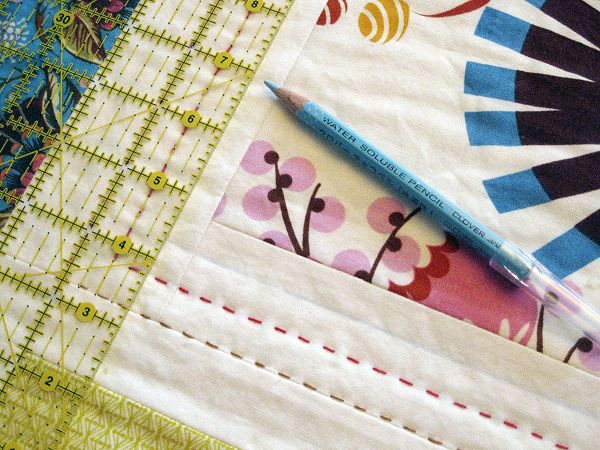 marking quilting lines by StitchedInColor, via Flickr - hand ... : hand quilting tools - Adamdwight.com