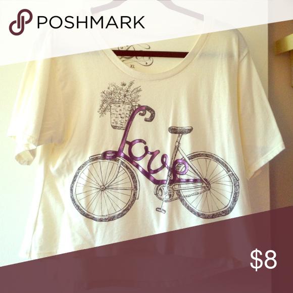 Love Bicycle Tee Gently used Tops Tees - Short Sleeve