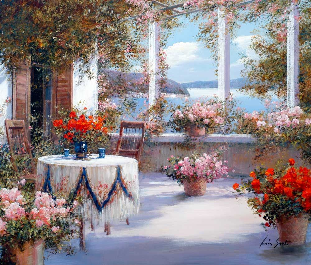 Terrazza sul lago | Paintings and Painting inspiration