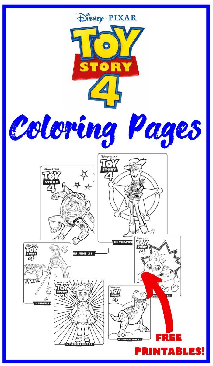 Disney Pixar's Toy Story 4 coloring pages! Free printable ...