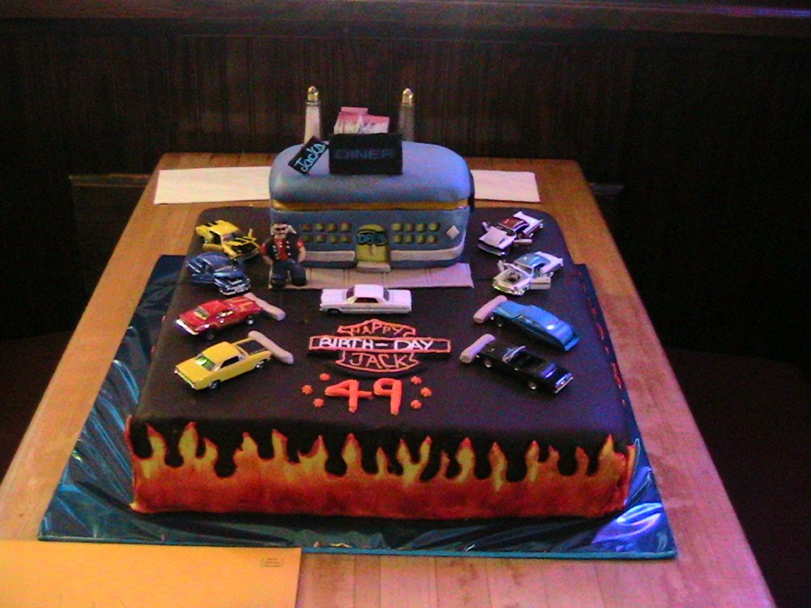 Classic Car Birthday Cake Pictures Oldies Harley Cake