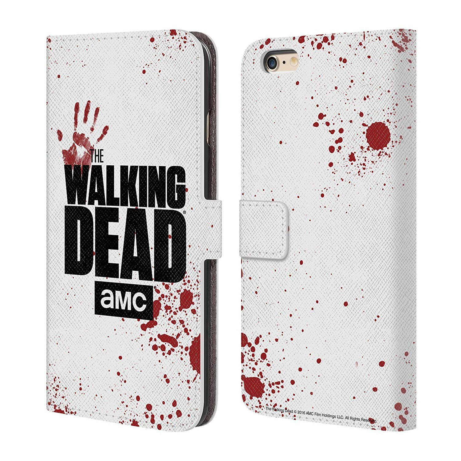 Official Amc The Walking Dead Black Logo Leather Book Amazon Co