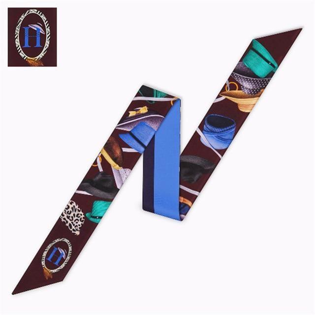 Letters Print Twill Silk Scarf Women Luxury Designer Fashion Handbag Bow Ribbons Hair Headband Summer Female Small Head Scarves #tieheadscarves