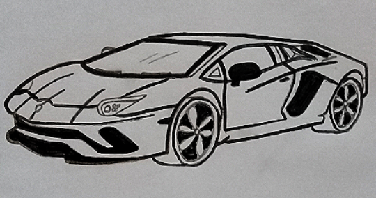 How To Draw A Lamborghini Step By Step Drawings Cool Drawings Car Drawings
