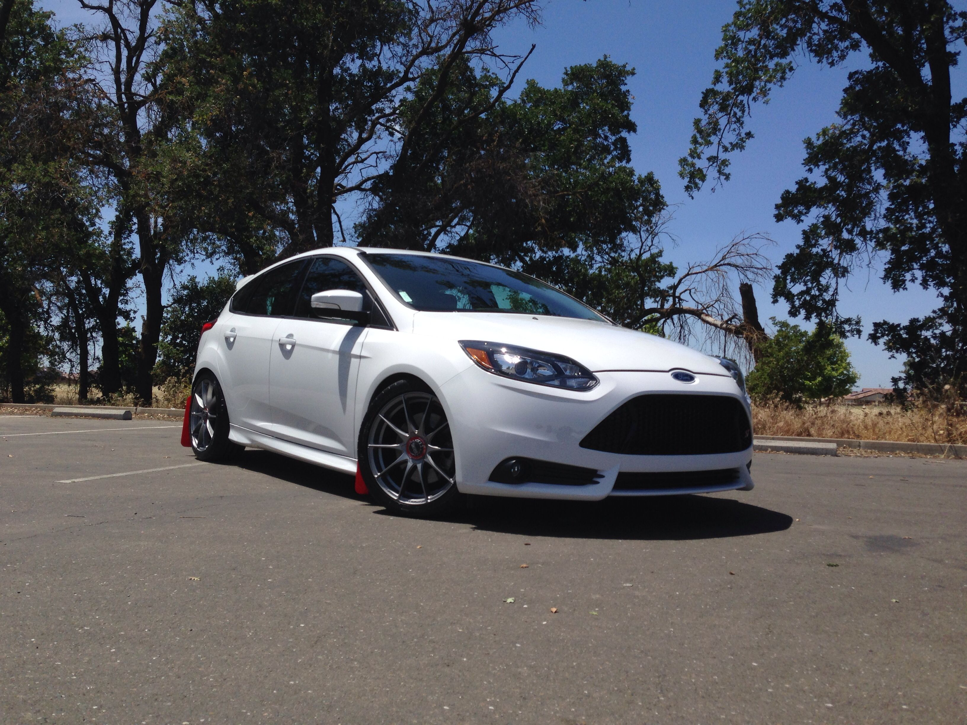 2013 ford focus st oz racing hlt wheels rally armor mud flaps eibach lowering