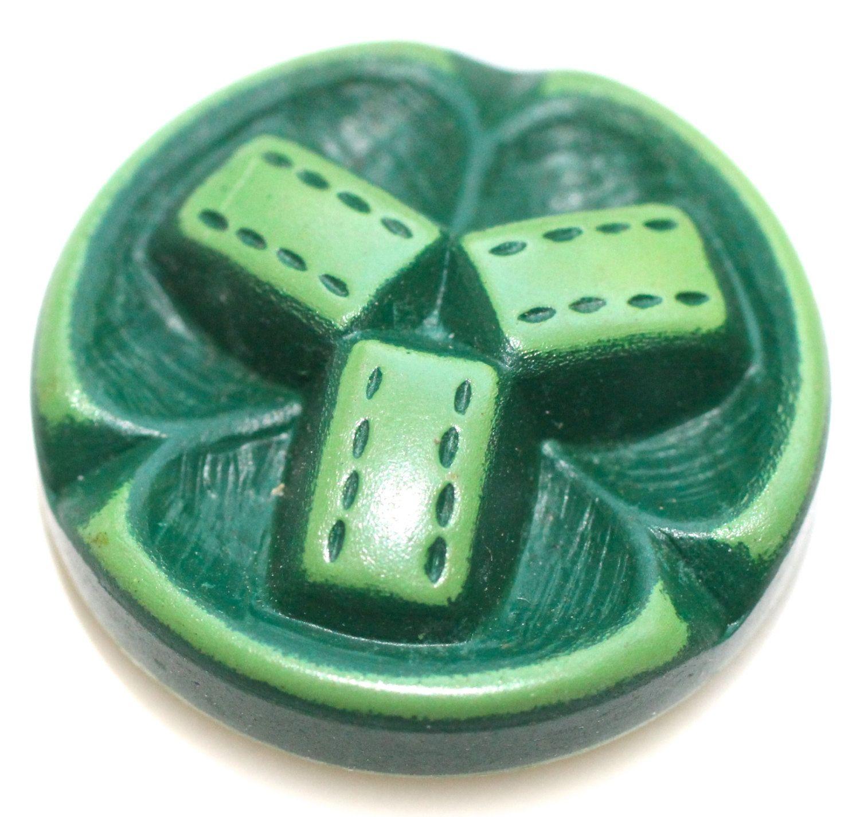 Buffed Celluloid Button -  Medium by KPHoppe on Etsy