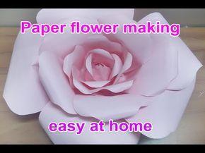 Diy large paper flower paper flower stencil paper flower backdrop diy large paper flower paper flower stencil paper flower backdrop backdrop flowers youtube mightylinksfo
