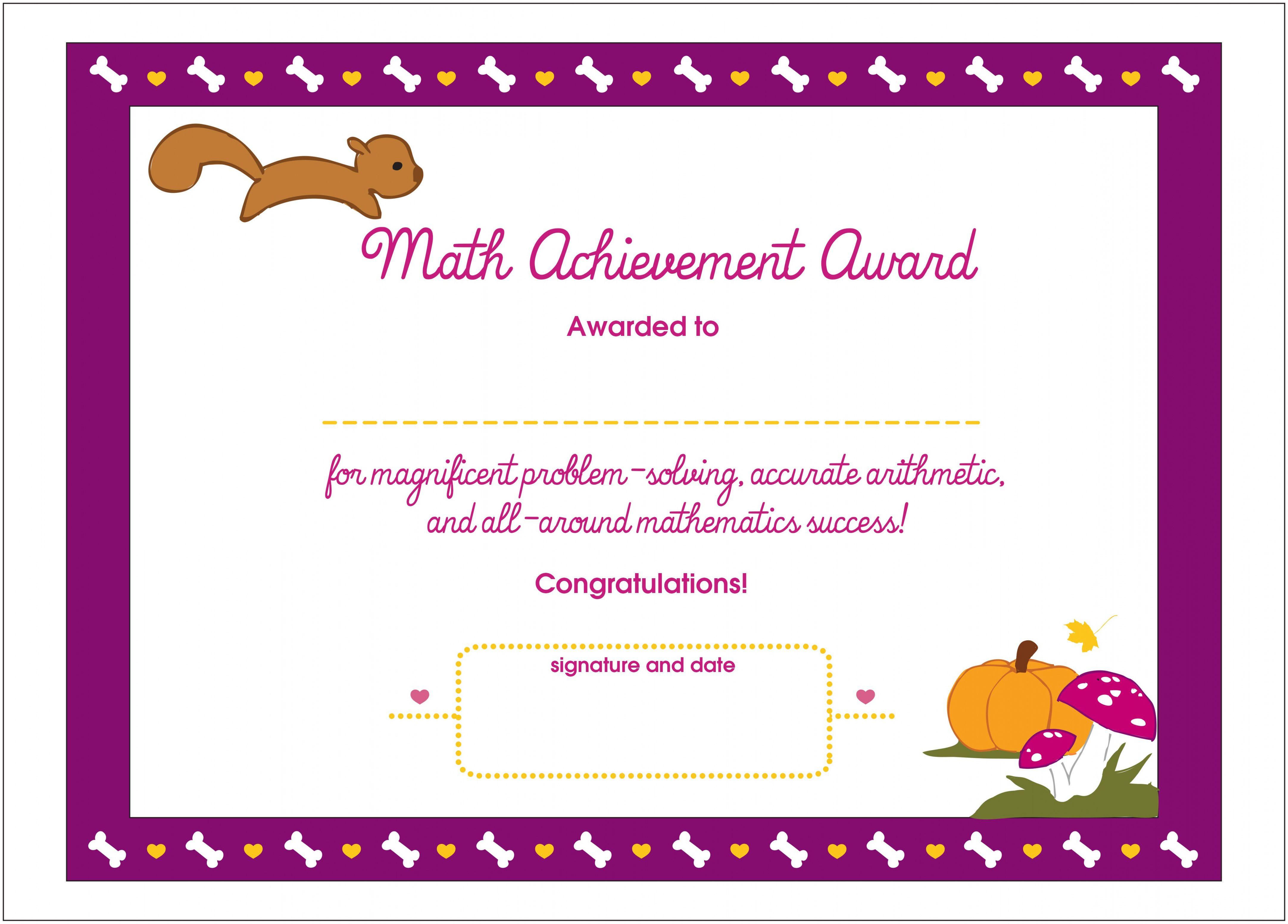 Academic Achievement Certificate Template In