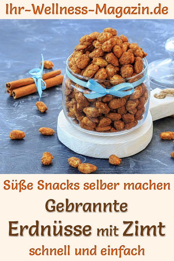 Gebrannte Erdnüsse mit Zimt selber machen - einfaches Rezept #gebranntemandeln