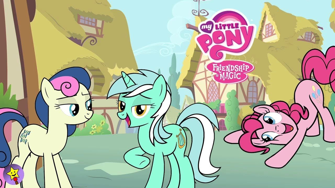 A Compilation Of My Little Pony Coloring Page Videos Lyra Heartstrings Coloring Book Page Bon Bon My Little Pony Coloring My Little Pony Friendship Happy Magic