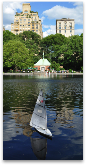 Sail boat rentals in central park - $11 per half hour  First