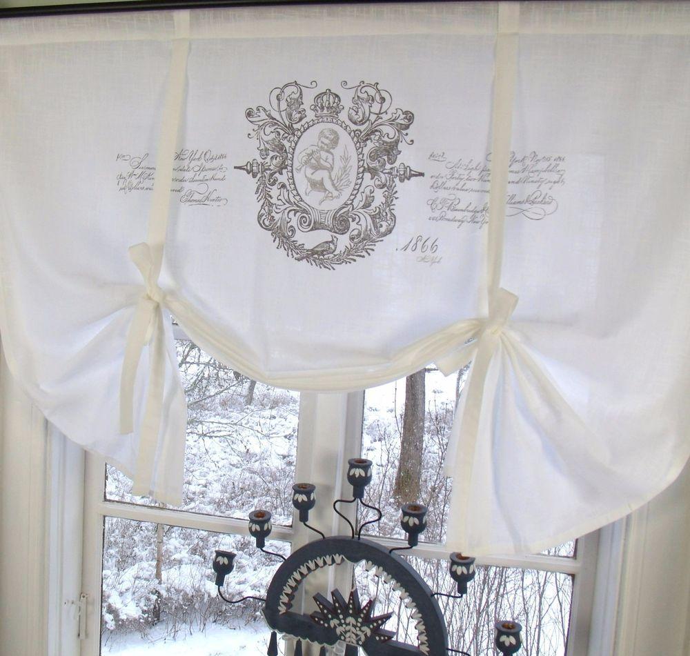 Rollos Gardinen Vorhänge details zu raff gardine jeanne rollo 100x100 weiß lillabelle shabby