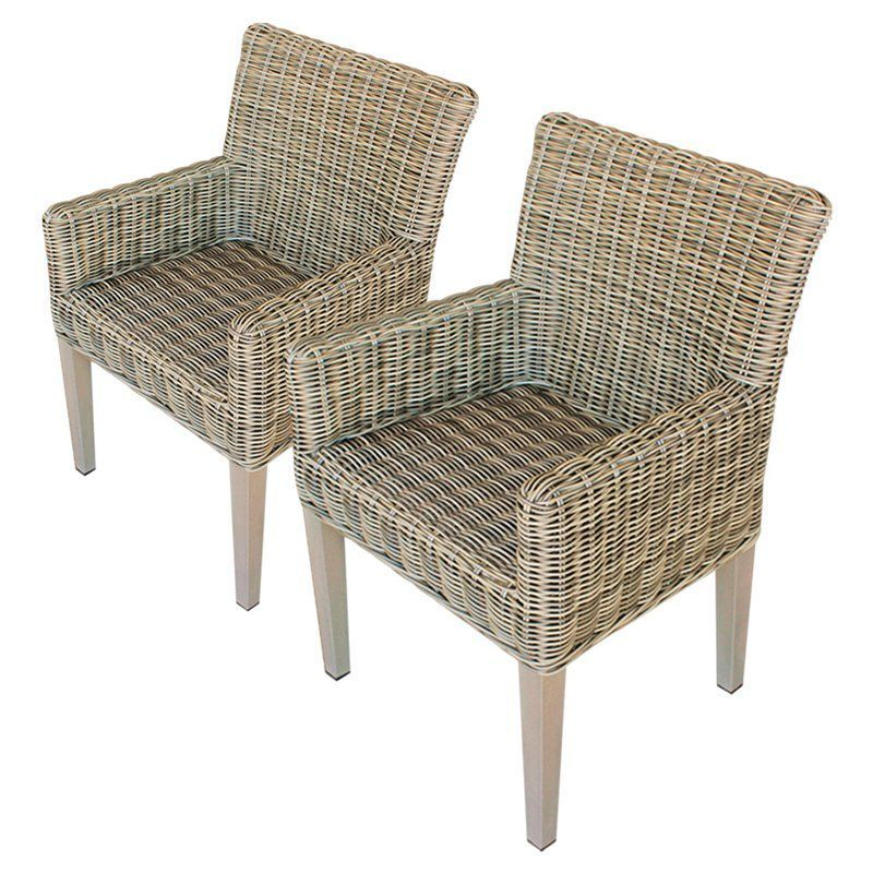 Tk Classics Cape Cod Outdoor Dining Chair Set Of 2 With 4 Cushion