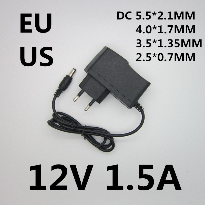 Power Adapter Dc 12v 1 5a Ac 100 240v Converter 12v 1500ma Charger Power Supply Europe And America Plug Black Dc 5 5 2 5mm Dengan Gambar