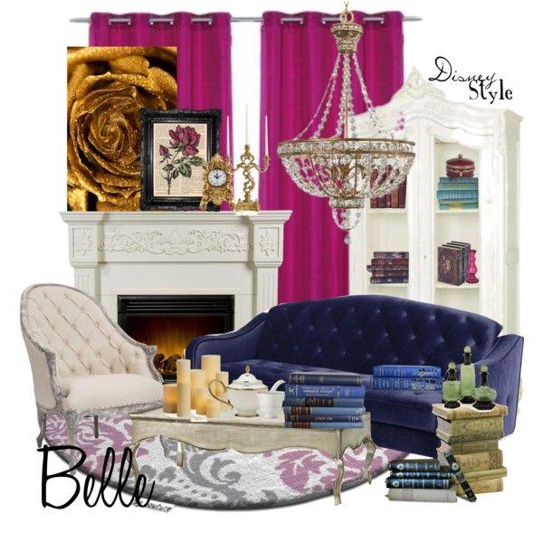 decorating disney style   Disney Style : Belle - Polyvore   Disney room decor, Disney home decor ...