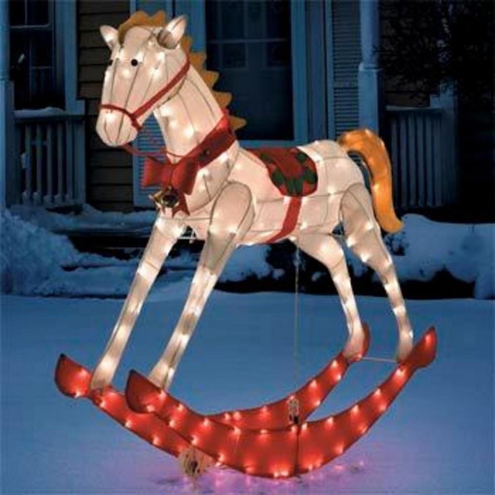 Animated Glistening Rocking Horse