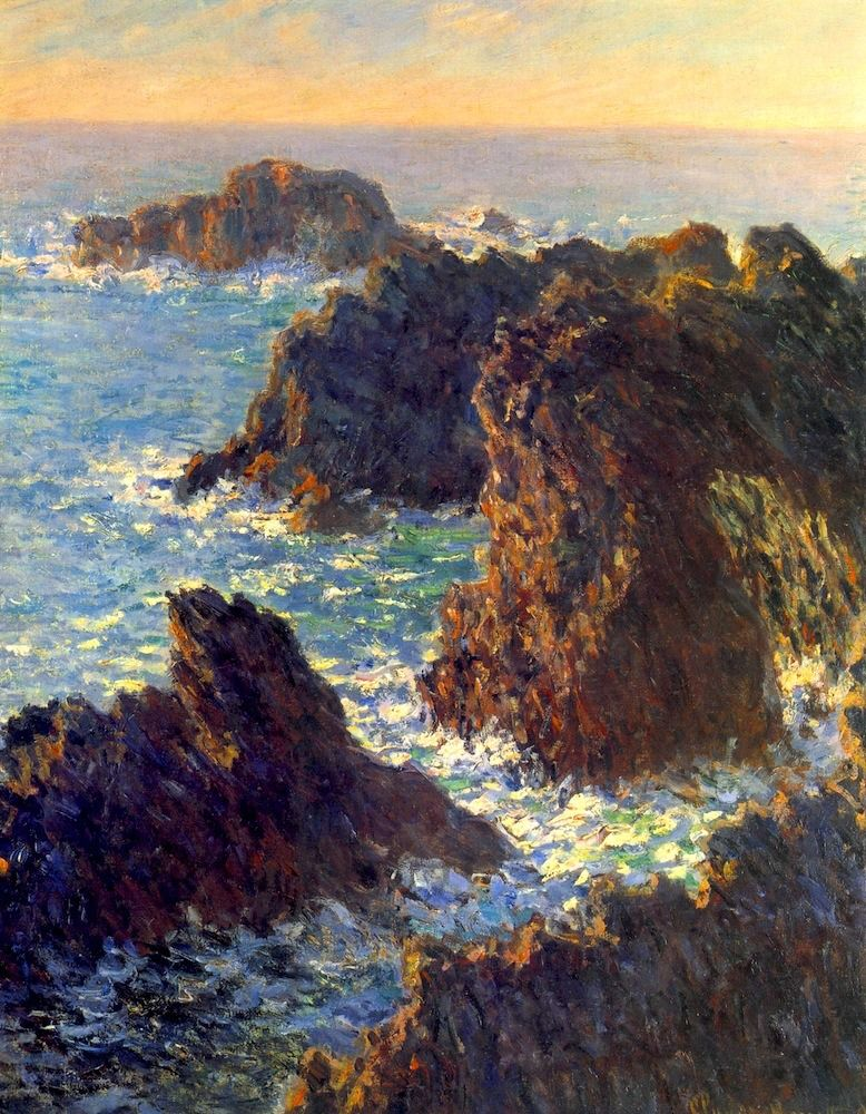 BO FRANSSON: Claude Monet-Rocks at Belle-Ile, Port-Dormois | Claude monet  art, Claude monet paintings, Monet paintings
