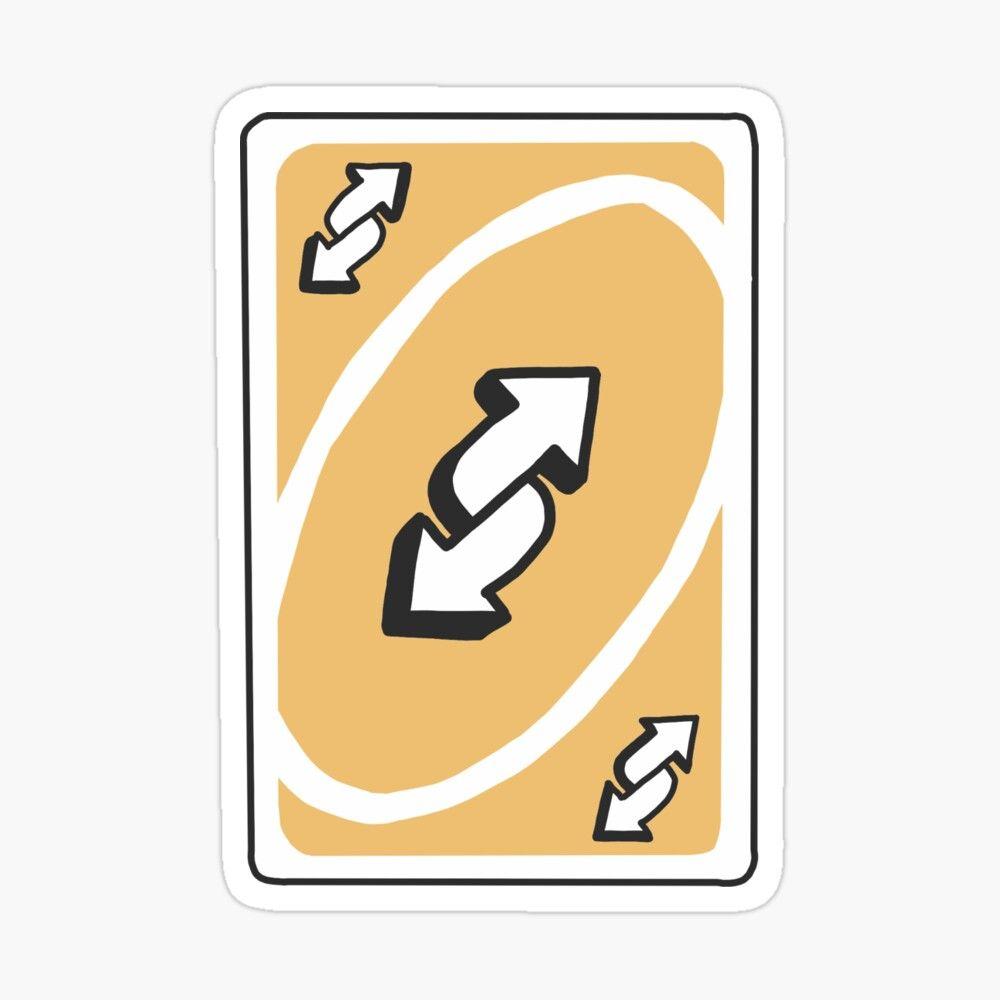 'uno reverse card' glossy stickerstickersjess in 2020
