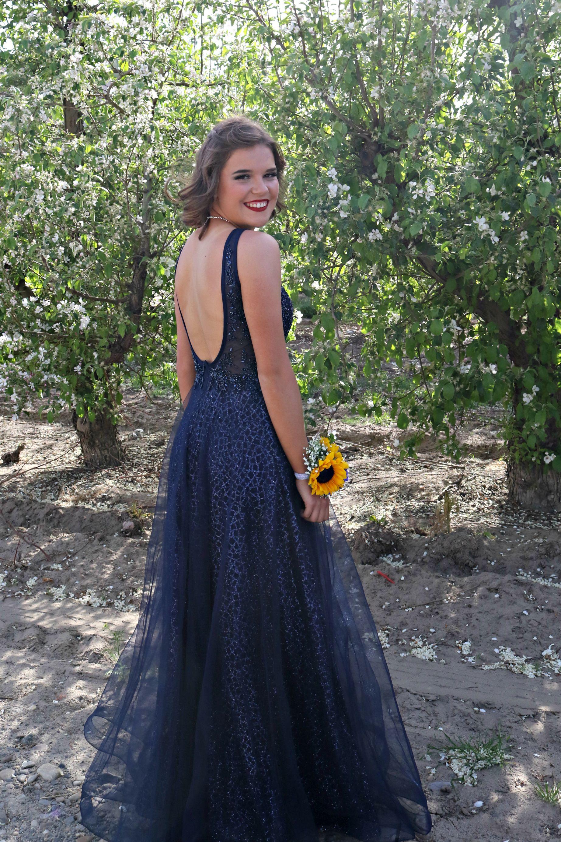 Sunflower Prom Backless Dress Formal Prom High School Prom [ 2766 x 1844 Pixel ]