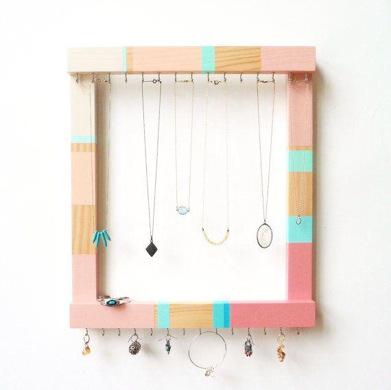 Jewelry Frame Jewelry Organizer Wall Necklace Holder Necklace