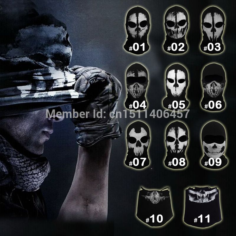 Call Of Duty 10 Cod Ghosts Logan Balaclava Ski Skull Hood: Call Of Duty CoD 10 Ghost Skull Face Mask Balaclava