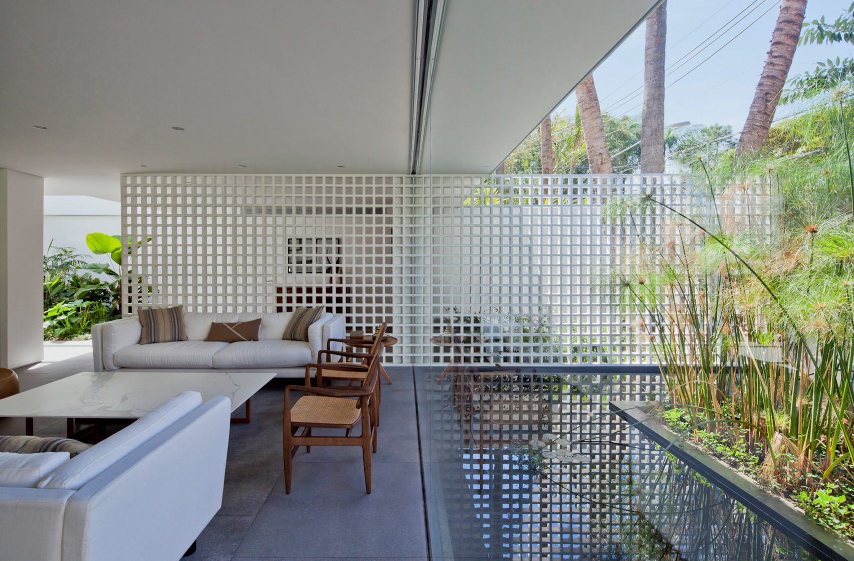 plant filled courtyards create natural enclaves in brazilian home plant filled courtyards create natural enclaves in brazilian home by amz arquitetos