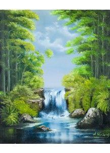 Olmalerei Wasserfall Wasserfall Malerei