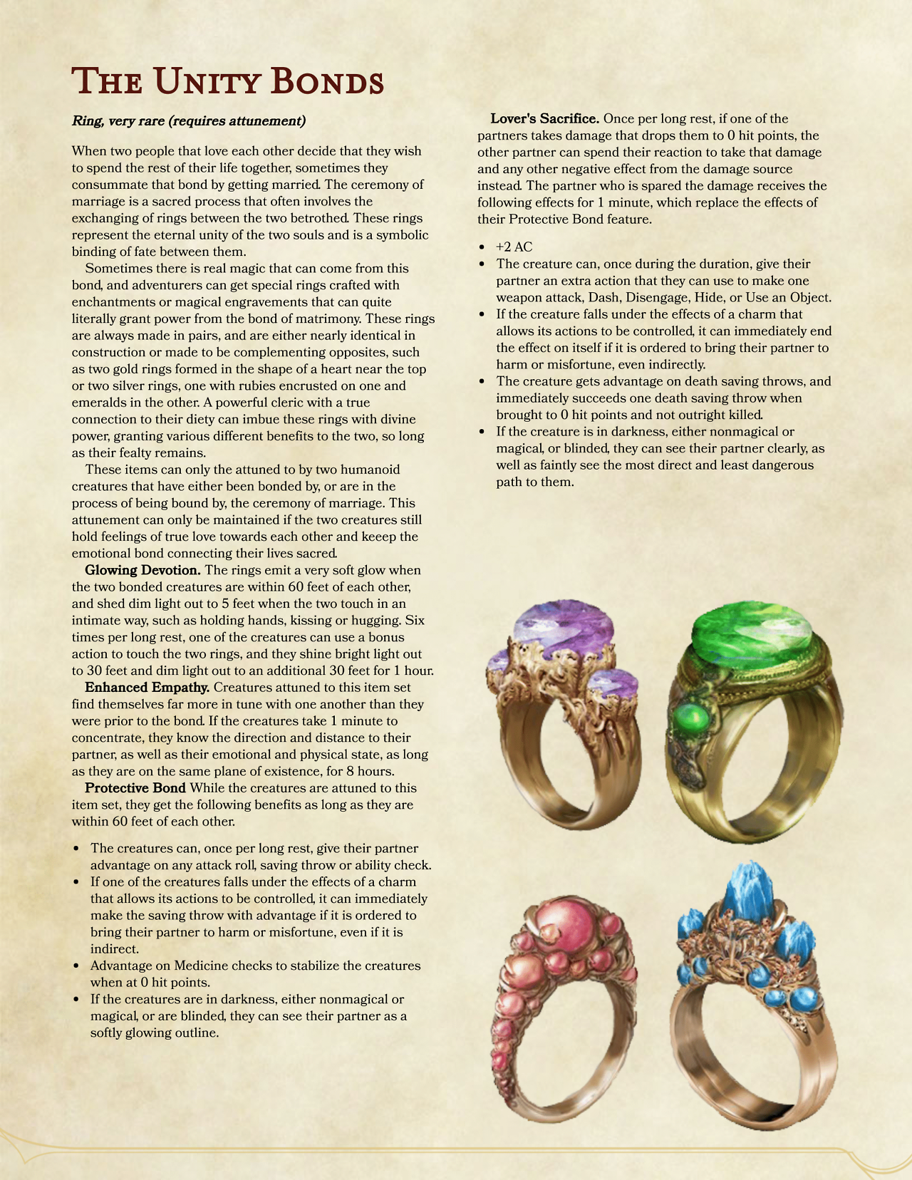 The Unity Bonds by ZowJr | DnD | Pinterest | Dnd 5e homebrew, RPG ...