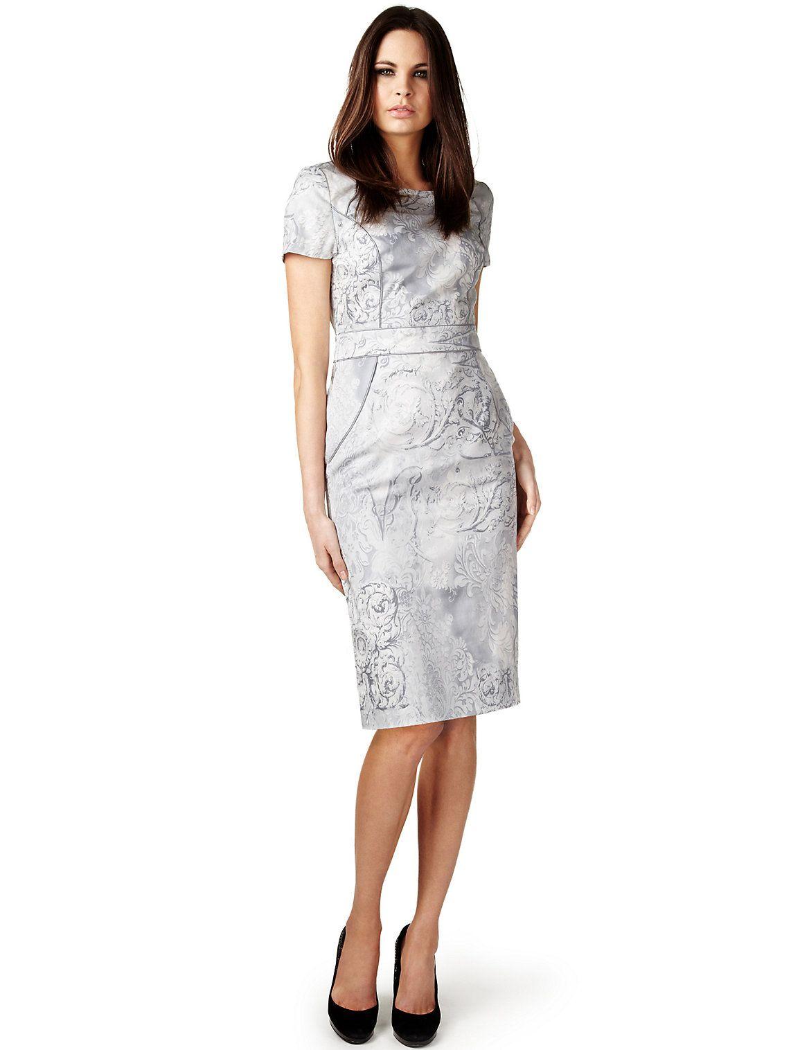 Per una speziale cotton rich floral baroque shift dress fashion