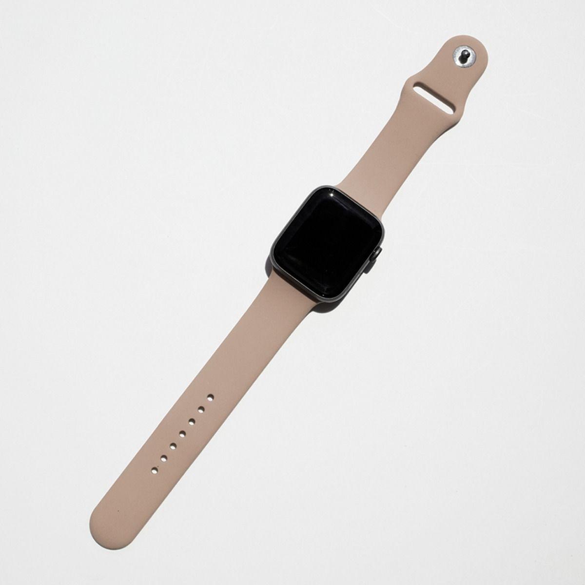 Silicone Apple Watch Band Walnut Apple Watch Silicone Band Watch Bands Cute Apple Watch Bands