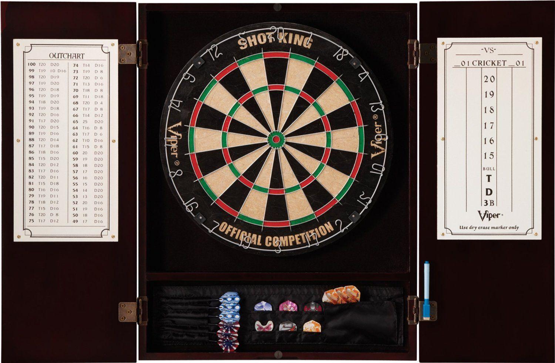 Amazon Com Viper Metropolitan Bristle Dartboard Cabinet