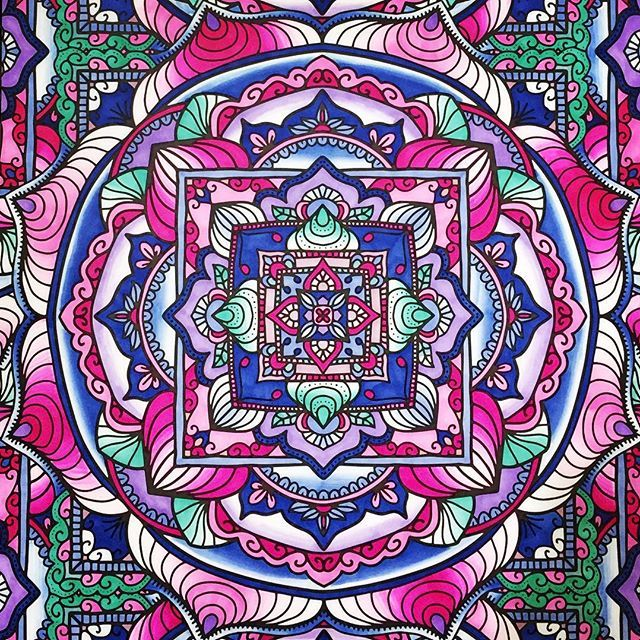 Awesome mandala page which has been coloured in by @chewcolors with their Chameleon Pens.  #mandalas #mandala #chameleonmarkers #chameleonpens #mandalaart #pink  #mandalaart #mandalacoloring #coloring #adultcoloring #adultcoloringbook #coloringtherapy #coloringforadults #rainbow #rainbowmandala #colouring #adultcolouring #mandalacolouring #mandalazen #adultcolouringbooks #adultcolouringbook