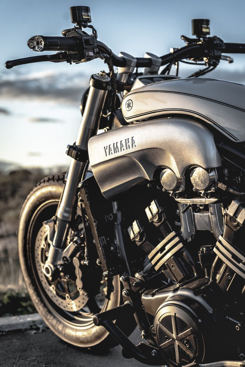 """W-Max"": Yamaha V-Max Restomod by Nitro Cycles"