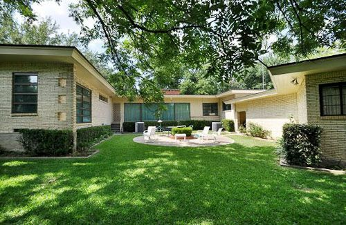 1950 mid century modern house in Dallas original condition time
